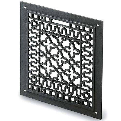 Cast iron grille register floor ceiling or wall wood burn heat transfer to rooms