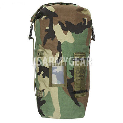 NEW US Army Woodland Camo NBC Chem Suit Bag Small Back Pack Straps Mopp Gear GI