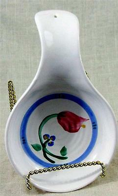 "TIVOLI - TRASURE CRAFT - CHINA SPOON REST - 5"" Diameter - Made in USA"
