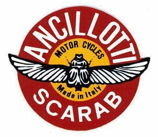 LAMBRETTA VESPA Ancillotti Round Scarab Sticker GP SX,TV,LI,GT,GS