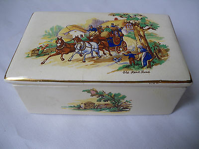 Vintage Falcon Ware Porcelain English Cigarette Case Or Box