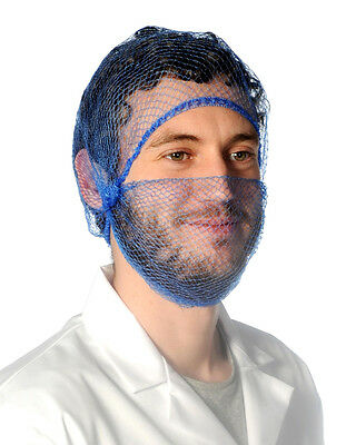 5 x BEARD NETS / SNOODS, BLUE,BROWN,WHITE,GREEN,RED, Catering, Chefs, Hygiene.