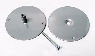 "DonJo BF161SL Silver Colorcoat 2 5/8"" Filler Cover Plate Covers 2 1/8"" Hole"