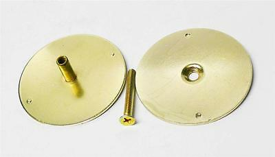 "DonJo BF161BP Brass Plated 2 5/8"" Filler Cover Plate Covers 2 1/8"" Hole"