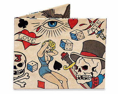 Dynomighty TATTOO Super Thin Bifold Tyvek MIGHTY WALLET New Free Shipping