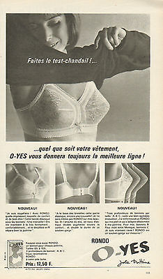 PUBLICITÉ ADVERTISING 1965 Lingerie O YES