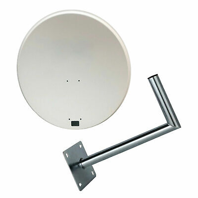 80CM Satellite With Wall Mount Dish Sky Freesat Perfect for Seaside Location