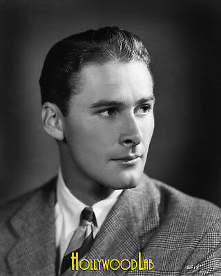 ERROL FLYNN 8x10 Professional Lab Photo 1930's Handsome Sexy Young Early Rare