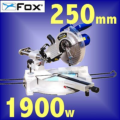 FOX F36-252D 240v 250mm 10 LASER guided Sliding Compound Mitre Saw 3Yr Warranty