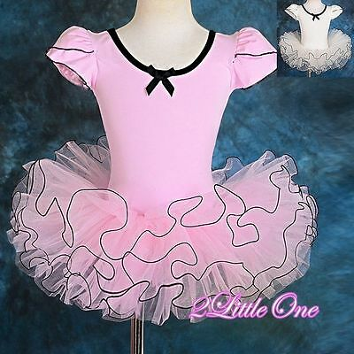 Girl Ballet Tutu Dance Costume Pageant Fairy Dress Up  Child Size 3T-7 #043