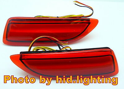 Red Lens LED Bumper Reflector For Lexus CT200h Toyota Corolla Add-on Rear Brake