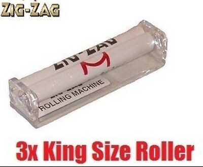 3x KING SIZE Zig Zag Automatic Cigarette Cig Tobacco Roller Machine UK SELLER
