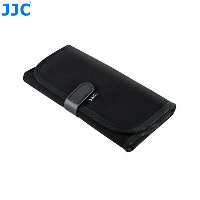 NEOPRENE FILTER WALLET POUCH CASE CARRY BAG WITH 8 POCKETS SLOTS FOR 25MM-82MM