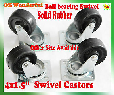 "4 pcs 1.5"" Swivel Castor Wheel 38mm Castors New Good Quality"