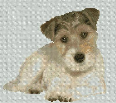 "25cm x 23cm Terrier Puppy Dog Counted Cross Stitch Kit 10/"" x 9/"" D2459"