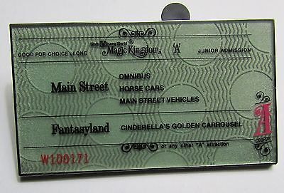 Disney WDW 40th Anniversary Ticket Book Pre Production Proto Type PP Pin