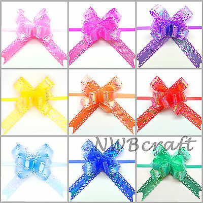 Small Pull Bows, Butterfly Ribbon Bow, Wedding, Party, Xmas, Gift Wrap