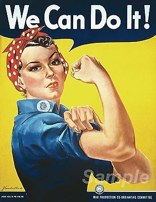 Vintage We Can Do It War Poster A4 Print