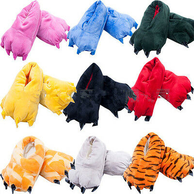 Adult Animal Shoes Slippers Paw Claw Kigurumi Pajamas Onesie Cosplay Men Wome