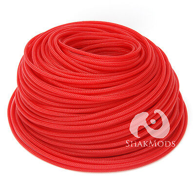 10 meters Shakmods Round 4 mm High Density Dark Red Braided Expandable Sleeving