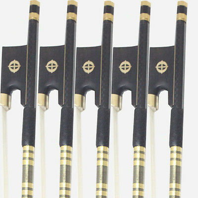 5PCS-PRO Carbon Fiber Violin Bow CROSS ROUND For 4/4 Violin FREE SHIPPING