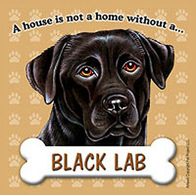 Black Lab Dog Magnet Sign House Is Not A Home