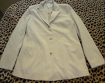 Womens Maternity Motherhood Khaki Light Tan Blazer Size Small Buttons Pockets @@