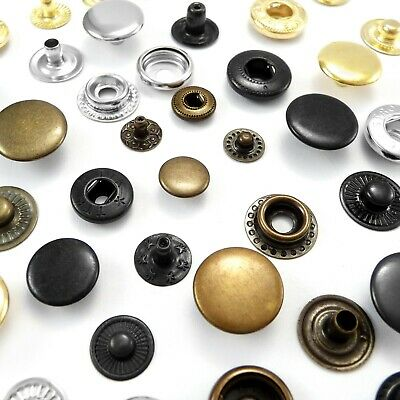 10 12.5 15mm Poppers Snap fastener Press stud Sewing Leather craft Clothes Bags