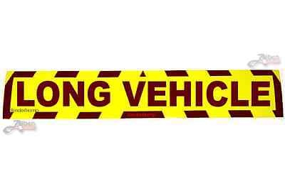 Sticker Long Vehicle Hi Viz Safety Car Van Sign Warning Horsebox Trailer S014