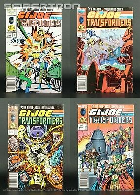 GI JOE AND THE TRANSFORMERS Complete Set Marvel US Comic Book G1 1 2 3 4 All