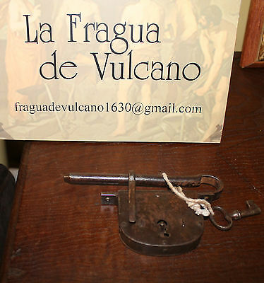 CERROJO s.XIX MUY BUEN ESTADO - 19th CENTURY LOCK BOLT VERY GOOD CONDITION