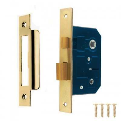 BATHROOM DOOR LOCK Privacy WC Toilet Mortice Polished BRASS CHROME 64mm 76mm