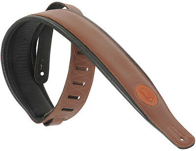 """Levy's MSS2-BRN 3"""" Signature Series Garment Leather Strap Guitar/Bass - Brown"""