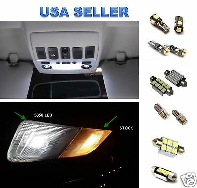 11pc Interior LED Package Kit package For Porsche 911 996  + License Plate LED