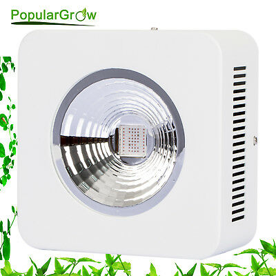 PopularGrow 200w Full spectrum COB led grow light Flower Reflector Lamp upgrade