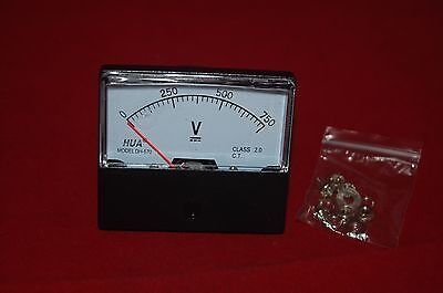 DC 0-750V Analog Voltmeter Analogue VoltagePanel meter 60*70 Directly connected