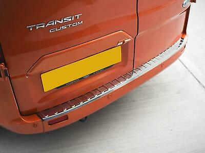 Chrome Stainless Steel Rear Bumper Sill Cover Guard Ford Transit Custom (13+ )