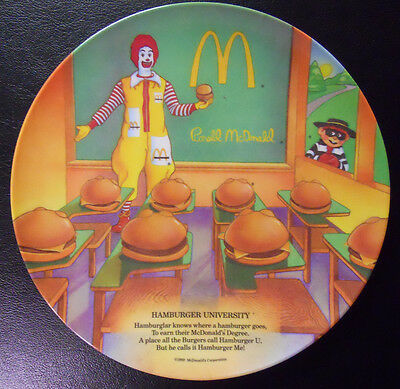 VINTAGE! 1989 McDonald's Plate-Hamburger University