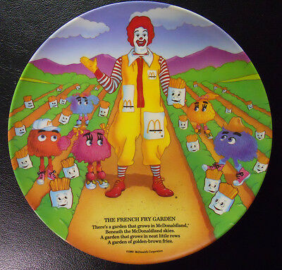 VINTAGE! 1989 McDonald's Plate-The French Fry Garden