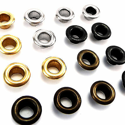 3mm or 4mm solid brass eyelets with washers - silver, black, gold, antique brass