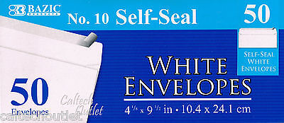 """50 Peel and Self-Seal White Letter Mailing Long Envelopes Shipping 4-1/8""""x9-1/2"""""""