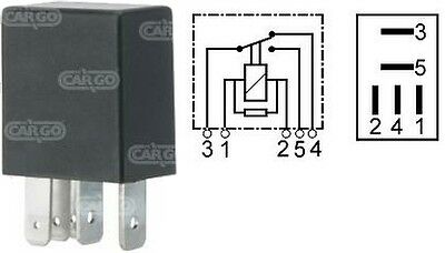 12V 5 Pin Terminal Micro Mini Relay Change Over 15 / 25A With Resistor 160367
