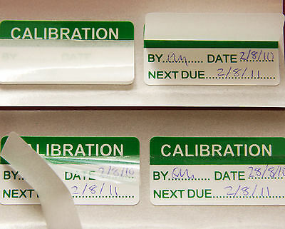 Write On Calibration Self Laminating Labels (Stickers) 20mm x 40mm