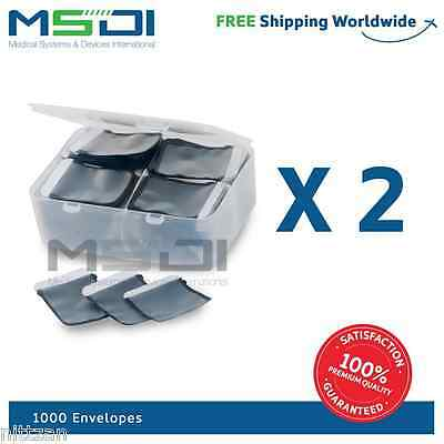 1000 x Envelopes for x-ray phosphor plates Size 2, 1, 0