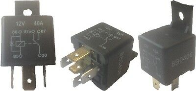Mini Changeover Diode Relay Switch 12V 40A 5 Pin Terminal Wood Auto Rly1018B