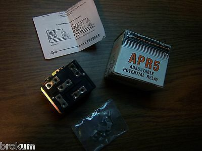 NEW SUPCO APR5 ADJUSTABLE POTENTIAL RELAY 110 T0 370 VAC UP TO 5HP