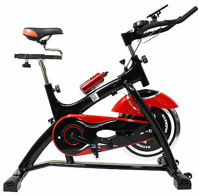 F4H Olympic 41 Aerobic Home Fitness Exercise Bike Indoor Cycling Bike Red&Black