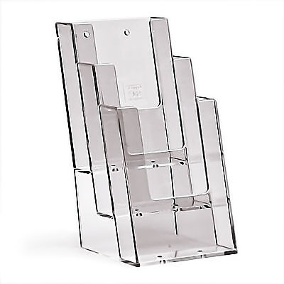 Taymar DL, 3 Pocket 1/3 A4 Potrait Brochure/Leaflet Holder - 3C104