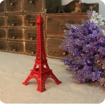 10CM high red Eiffel Tower model photography props ornaments Window decorations