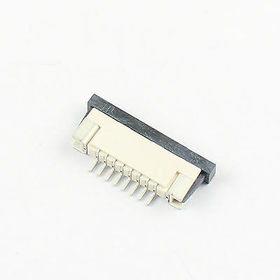 10Pcs FPC FFC 1mm 1.0mm Pitch 8 Pin Drawer Flat Cable Connector Bottom Contact